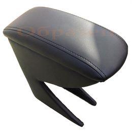 Подлокотник CHEVROLET SPARK 2010-2015, на ножках, на магните, экокожа, чёрный