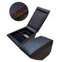 Подлокотник для SKODA RAPID 2013-, чёрный/чёрный/красный