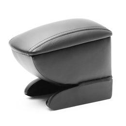 Подлокотник в штатное место для Chery Bonus 2011-, чёрный, с фиксацией крышки магнитами, на ножках