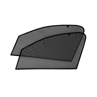 Шторки на стёкла для HYUNDAI SOLARIS I СЕДАН 2010-2017, каркасные, На магнитах, передние, боковые