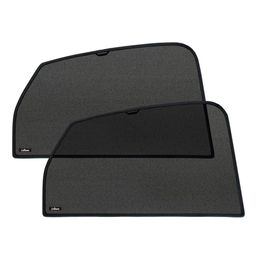 Шторки на стёкла FORD RANGER DOUBLE CAB III 2012-, каркасные, задние, боковые