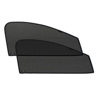 Шторки на стёкла для NISSAN PATHFINDER IV 2014-, каркасные, передние, боковые