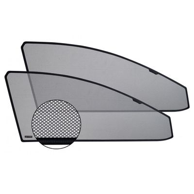 Шторки на стёкла для KIA PICANTO II, TA 2011-2017, 5 дв., каркасные, передние, боковые, CHIKO