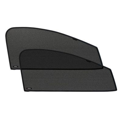Шторки на стёкла для KIA QUORIS 2012-, каркасные, передние, боковые