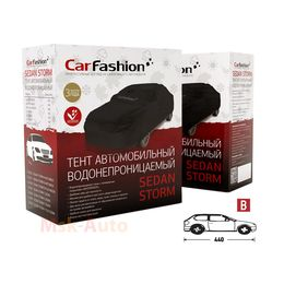Тент чехол для Автомобиля ХЭТЧБЕК SEDAN STORM B Водонепроницаемая ткань, чёрный