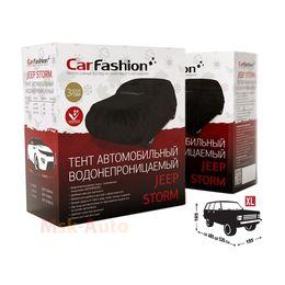 Тент чехол для Автомобиля ДЖИП JEEP STORM XL Водонепроницаемая ткань, чёрный