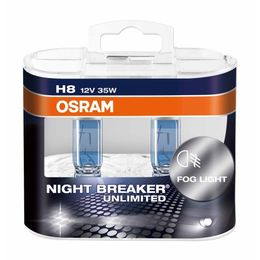 H8 лампы 12V-35W (PGJ19-1) Osram Night Breaker Unlimited DuoBox (+110% света) 64212NBU-HCB