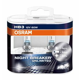 HB3 лампы 12V- 60W (P20d) Osram Night Breaker Unlimited DuoBox (+110% света) 9005NBU-HCB