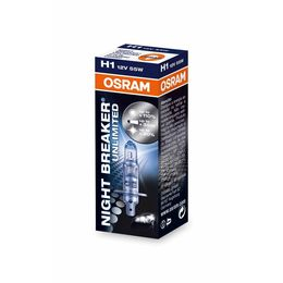 H1 лампа 12V-55W (P14,5s) Osram Night Breaker Unlimited (+110% света) 64150NBU