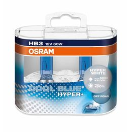 HB3 лампы 12V- 60W (P20d) Osram Cool Blue Hyper+ DuoBox (бело-голубоват. свет) 69005CBH+-HCB
