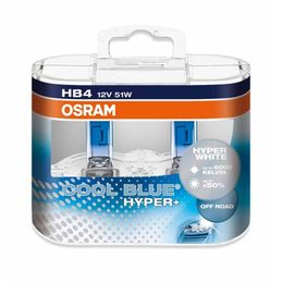 HB4 лампы 12V- 51W (P22d) Osram Cool Blue Hyper+ DuoBox (бело-голубоват. свет) 69006CBH+-HCB