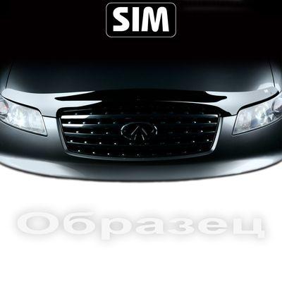 Дефлектор капота на Opel Astra J 2009-, длинный
