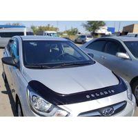 Дефлектор капота Hyundai Solaris 2010-