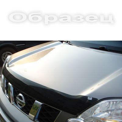 Дефлектор капота на Mitsubishi Lancer X 2007-2010, до рестайлинга нижний серебро