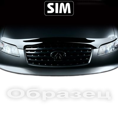 Дефлектор капота на Mitsubishi Outlander 2009-2012