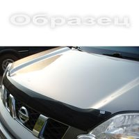 Дефлектор капота (Мухобойка) на Toyota Land Cruiser Prado 120 (2003-2008) прозрачный