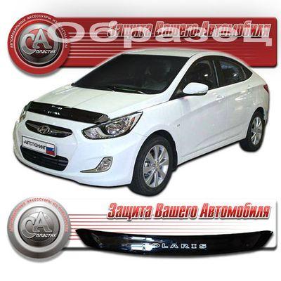 Дефлектор капота Hyundai Solaris 2011-