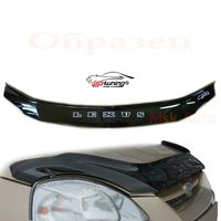 Дефлектор капота на AUDI Q3 2011-, отбойник на капот (мухобойка)