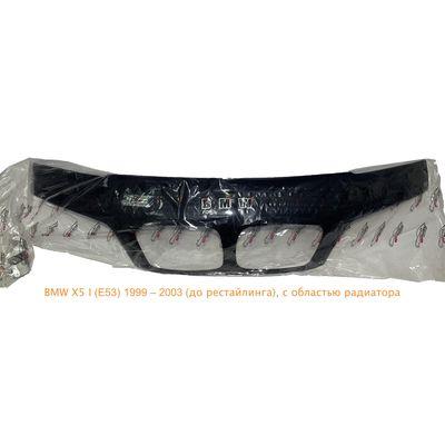 Дефлектор капота (Мухобойка) на BMW X5 E53 2000-2003, до рестайлинга, с обл. радиатора