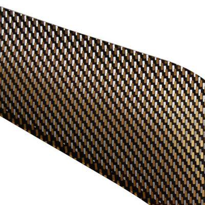 Дефлектор капота (Шелкография карбон-золото) Ford Focus 2