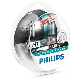 Галогеновые лампы H7 PHILIPS X-treme Vision 12V-55W (PX26d) 12972XV+S2