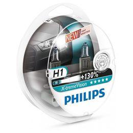Галогеновые лампы H1 PHILIPS X-treme Vision 12V-55W (P14,5s) 12258XV+S2