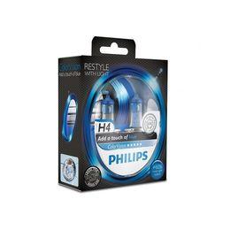 Галогеновые лампы H4 PHILIPS Color Vision 12V-60/55W (P43t) 12342CVPBS2