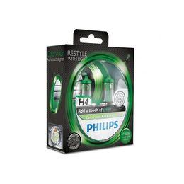 Галогеновые лампы H4 PHILIPS Color Vision 12V-60/55W (P43t) 12342CVPGS2