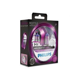 Галогеновые лампы H4 PHILIPS Color Vision 12V-60/55W (P43t) 12342CVPPS2