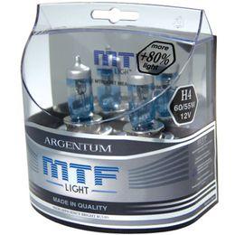 Галогенные лампы MTF Light H1 12v 55w Argentum +80%, компл