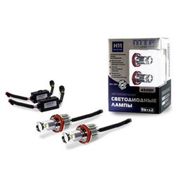 H27(880, 881) Набор автомобильных светодиодных ламп MTF Light FL27H45K в ПТФ 12/24В, 4500К BL