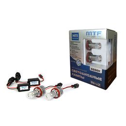 H27(880, 881) Набор автомобильных светодиодных ламп MTF Light FL27H55K в ПТФ 12/24В, 5500К BL