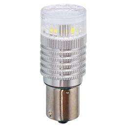 P21W (BA15s) Светодиодная лампа автомобильная MTF Light P21W360E, линза 360°, жёлтая