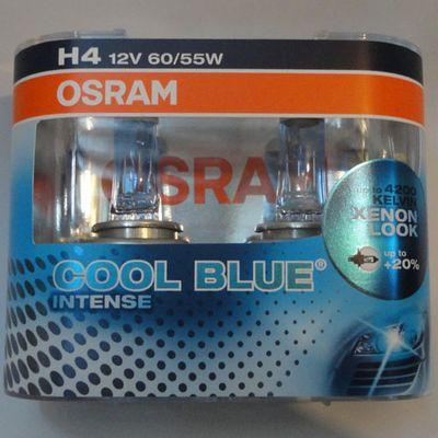12V Н4 60/55w+20% (P43t-38)(64193CBI2)COOL BLUE INTENSE OSRAM