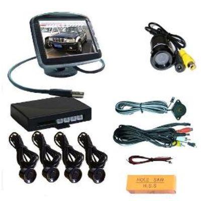 Парктроники Паркпрофи Р4772-17 (камера 170º+ монитор тип 4) (черный)  купить - Интернет-магазин Msk-Auto.com