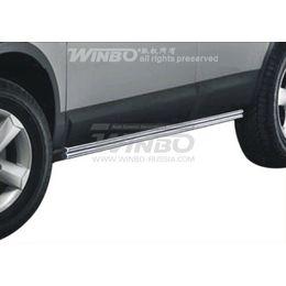 Защита кузовного порога нерж. Nissan QASHQAI 2007-2013