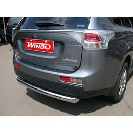Защита заднего бампера Mitsubishi Outlander 2012-2014