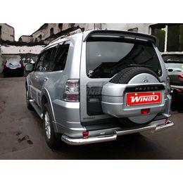 Защита заднего бампера Mitsubishi PAJERO IV 06+