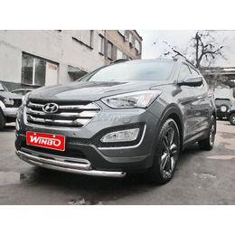 Защита переднего бампера Hyundai Santa Fe 2012+