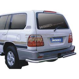 Защита заднего бампера нерж. Toyota LAND CRUISER FJ100 98-06 (76mm) правая