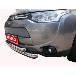 Защита переднего бампера Mitsubishi Outlander 2012-2014