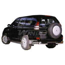 Защита заднего бампера Toyota LAND CRUISER PRADO FJ120 02-09