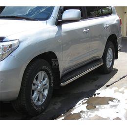 Защита штатного порога для Toyota LAND CRUISER FJ200 07-12