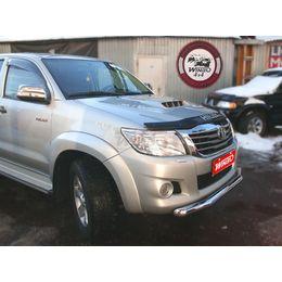 Защита переднего бампера нерж. Toyota Hilux 2012+ (76mm)