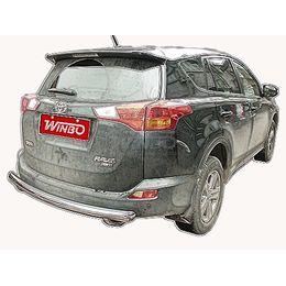 Защита заднего бампера Toyota RAV4 2012+