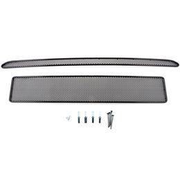 Сетка на бампер внешняя для Ford Explorer 2012-2015, 2 шт., чёрная, 10 мм