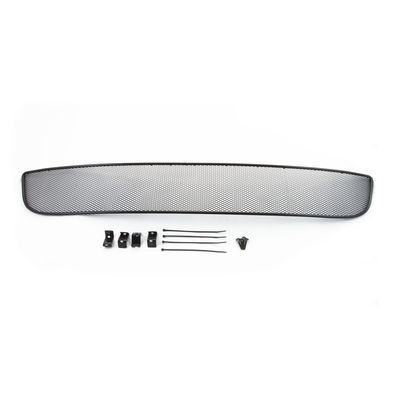 Сетка на бампер внешняя для CITROEN C4 II 2013-, чёрная, длина ячейки 10 мм, для автомобилей без переднего парктроника