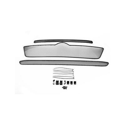 Сетка на бампер внешняя для CITROEN JUMPER IV 2014-, комплект 3 части, чёрная, длина ячейки 15 мм