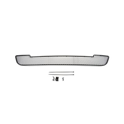 Защитная сетка радиатора в бампер для FORD MONDEO V 2014-, чёрная, длина ячейки 15 мм, для автомобилей с хром-пакетом