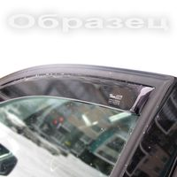 Дефлекторы окон для Peugeot 206 1998- 5дв. хэтчбек, 2006- седан, ветровики вставные
